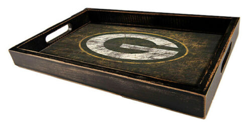 Green Bay Packers Distressed Serving Tray Team Logo - NEW