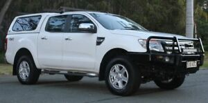 2015 Ford Ranger PX XLT Double Cab White 6 Speed Sports Automatic Utility Southport Gold Coast City Preview