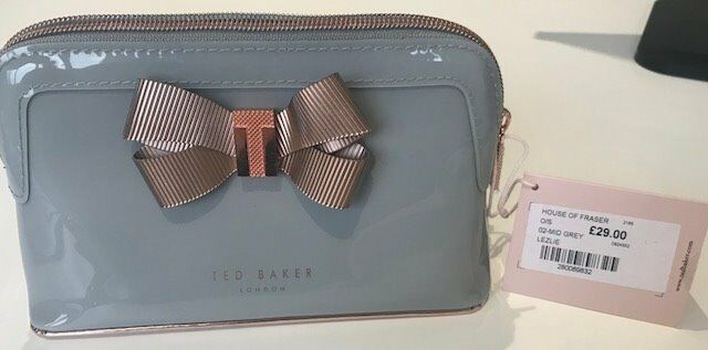 c634a12623bc Brand New  Ted Baker Grey Make-Up Bag with price tag still on. Cost ...