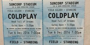 2 x Coldplay Brisbane Tickets Toowoomba Toowoomba City Preview