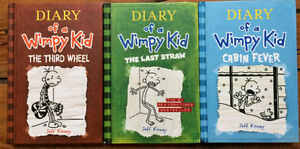Hardcover - DIARY OF A WIMPY KID books 3 for $15