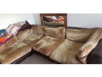 Corner sofa DFS Columbus L shape brown velvet enormous large comfy RRP £2.7k