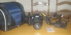Nikon D3000 with accessories