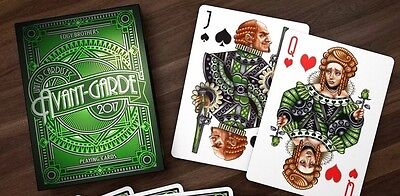 Avant Garde Green Playing Cards Deck Brand New Sealed