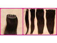 Dark Brown Foxy Locks Real Human Clip in Hair Extensions