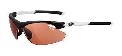 Tifosi Tyrant 2.0 Sunglasses, Black/White Frames, Red Fototec Lenses