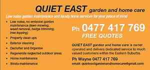 QUIET EAST garden and home care Woollahra Eastern Suburbs Preview