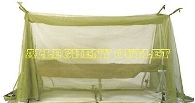 US MILITARY MOSQUITO INSECT NET FIELD BAR NETTING COT TENT COVER MESH NOS