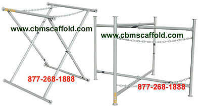 Two New 48 X 30 Double Chain Mortar Board Stand Scaffold