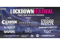 Saturday lockdown ticket