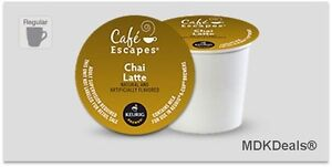 Cafe Escapes Chai Latte K-Cups Guaranteed Fresh 96 Count Free Shipping