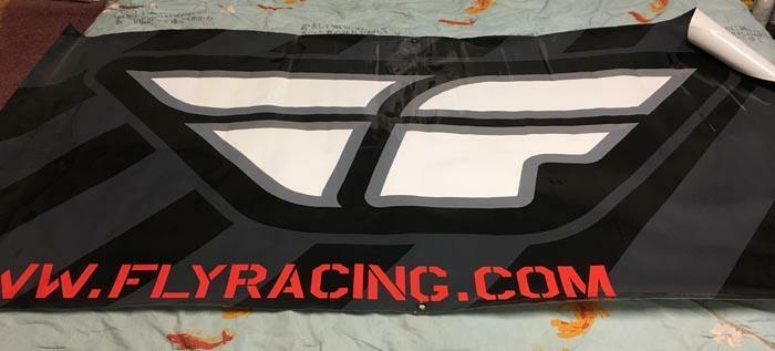 Fly Racing Banner Poster