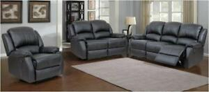 NEW in Boxes!!!  3PC Reclining Sofa Set in Brown or Black. Set Includes Sofa,Love Seat and Chair tax included until Rega