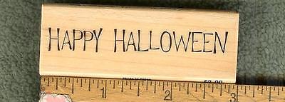 HAPPY HALLOWEEN 02  PHRASE RUBBER STAMP - Halloween Phrase