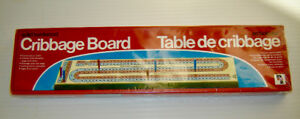 Vintage 1983 Pressman Solid Hardwood Cribbage Board-New Unopened
