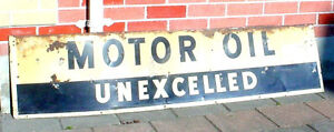 Antique 1920s Motor oil advertisement tin sign London Ontario image 1