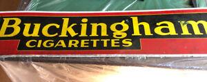 Buckingham cigarette tin sing / Enseigne vintage Buckingham cig