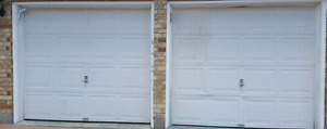 2 Garage doors with hardware included