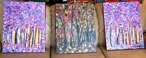 Bright Original Acrylic Paintings - 3 for the price of 1