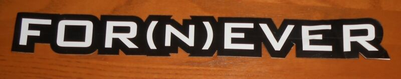 Hoobastank For(n)ever Bumper Sticker 2-Sided Original Promo 12x1.5