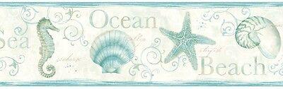 Seashell Border - Island Bay Wallpaper Border - 3 Colors Available - Coastal - Sealife - Seashells