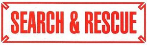 SEARCH AND RESCUE Highly Reflective Vehicle Decal - RED Letters - size: 3