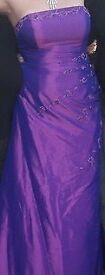 Ladies Purple prom dress
