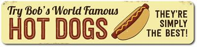 Hot Dogs Sign  Personalized Try World Famous Sign  Custom Chef Sign Ensa1001686