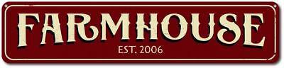 Personalized Farmhouse Established Date Farm Kitchen Sign ENSA1001758](Established Sign)