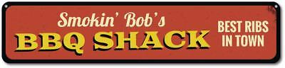 Personalized Smokin' BBQ Shack Best Ribs In Town Name Kitchen Sign ENSA1001811