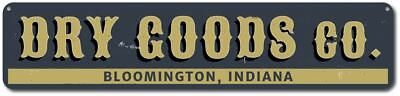 Dry Goods Co. Sign, Personalized Mercantile Company General Store - ENSA1001961 - Party Good Store
