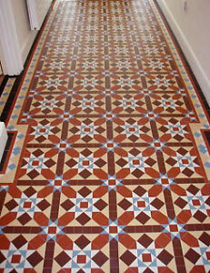 VICTORIAN OLD ENGLISH ORIGINAL STYLE FLOOR TILES GRASMERE