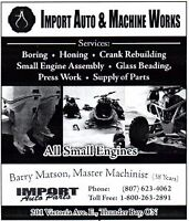 Import Auto Small Engine Machine Works