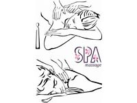 Professionl female massage therapist