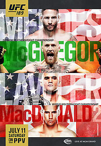 CONOR MCGREGOR VS.MENDES UFC 189 FIGHT POSTERS/JULY 2015