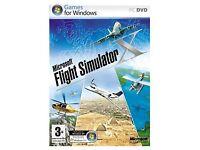 MICROSOFT FLIGHT SIMULATOR X - box/disc/productkey/instructions PC DVD game Windows Vista or XP