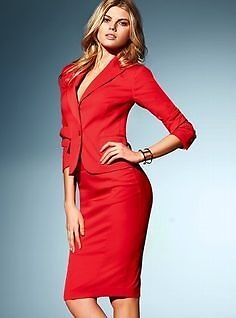 Victoria Secret Body by Victoria Pencil Skirt & Jacket Suit red ...