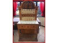Antique Pine Tiled Dressing Table