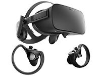 Oculus Rift Vr Headset with touch controllers