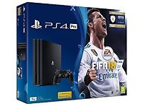 BRAND NEW BOXED PS4 PRO 1TB FIFA 18 BUNDLE