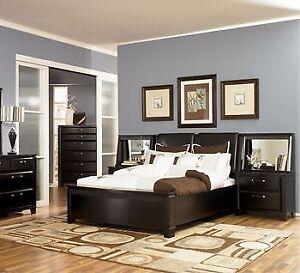 Excellent Ashley Queen Bedroom Set (bed, night tables, dresser)