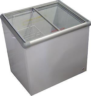 180 liter glass top freezer new