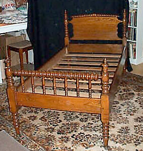 Vintage Spindle Bed late 1800's - Ontario made