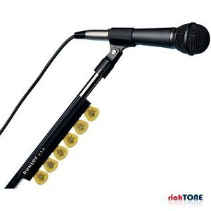 Jim Dunlop JD-5010SI BLACK MIC STAND PICKHOLDER - 7 PICKS