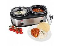 COOPERS DOUBLE POT SLOW COOKER