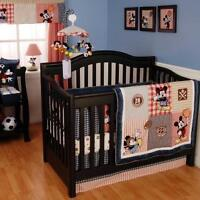 Vintage Mickey Baby Crib Bedding - Reduced to $45