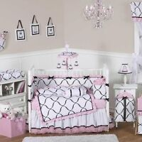 12 piece Princess Baby Crib Bedding by Sweet Jo jo