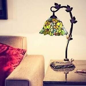 "Tiffany Style 23"" Stained Glass Floral Desk Lamp"