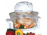 HALOGEN OVEN 12L, SELF CLEAN, INCLUDING LOTS OF EXTRAS - bargain