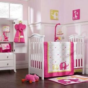 Carter's Pink Elephant Crib Bedding Set